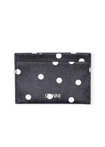 Leather A2599 card holder Navy Ganni