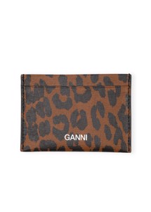 Leather A2599 card holder Toffee Ganni
