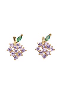 Grapes crystal stud Pico