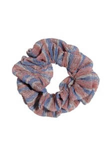 Metallic stripe scrunchie Candy