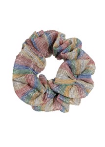 Metallic stripe scrunchie Rainbow