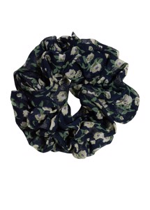 Flower scrunchie Navy Pico