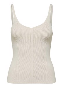 Lexi strik top Offwhite Selected Femme