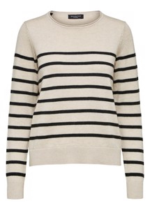 Inka cashmere strik Offwhite Selected Femme