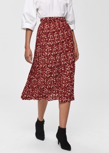 Poppy skirt Rust Selected Femme