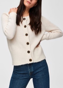 Sia strik cardigan Offwhite Selected Femme