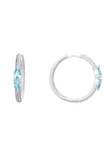 Urmi double hoops Turkis Sui Ava